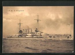 AK Kriegsschiff SMS Helgoland In Voller Fahrt - Warships