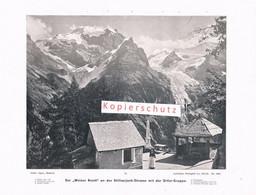 076-4 Photoglob Weisse Knott Stilfserjoch Ortler Ortles Druck 1902!! - Altri