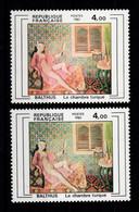 """Variete - YV 2245b """" Dominante Rose """" + 2245 Normal , Les Deux N** - Variétés: 1980-89 Neufs"""