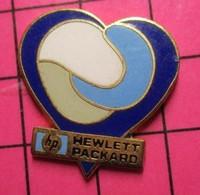 713h Pin's Pins / Beau Et Rare / THEME : MARQUES / COEUR BLEU ET BLANC HEWLETT-PACKARD - Marche