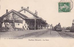 34 - PAULHAN - LA GARE - Paulhan