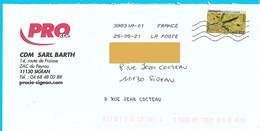 Enveloppe Avec Inscription Du Nom De La Rue Avec La Toshiba Timbre Empreinte De Héron Cendré Oiseau Animal Bird Vogel - Mechanische Stempels (varia)