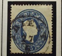 Österreich - Autriche - 1861 - Impress On Relief - Dentelle 14 - N° 21 - 15K - Blue/blauw - Gestempeld - Used Stamps