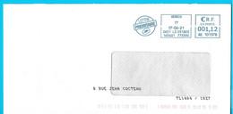 Enveloppe Avec Impression Du Nom De La Rue Par La Poste Marque De Tri TL1404/1027 EMA AE 101378 - Mechanische Stempels (varia)