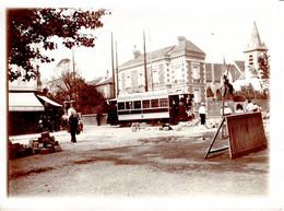Photo Lieux Bezons Premier 1er Tramway Rue Histoire Animée Homme 12x9cm - Places