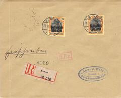 R-Cover MiNr.9 MeF Kowno (Kaunas) - Berlin Postgebiet Ob.Ost - Occupation 1914-18
