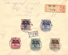 R-Cover Mischfrankatur  Sammlerbeleg Kowno (Kaunas) - Berlin 15.2.16 Postgebiet Ob.Ost - Occupation 1914-18