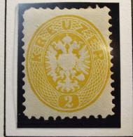 Österreich - Autriche - 1863 - Impress On Relief - Dentelle 9 1/2 - N° 27 - 2K - Geel/Jaune - Postfrisch Met Gom - Nuovi