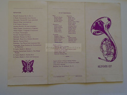 ZA372.7  Invitation - Soirée De Cuivres - 1983  GYŐR  Hongrie Purcell Prokofjev Zanielli Skolnik Casterede P.M.Dubois - Europe