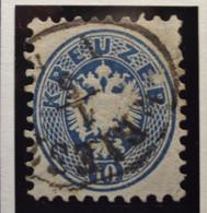 Österreich - Autriche - 1863 - Impress On Relief - Dentelle 9 1/2 - N° 30 - 10K - Bleu/blauw  - Gestempeld - Used Stamps