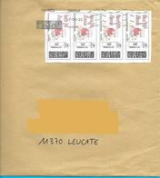 "4 Montimbrenligne En Une Seule Vignette 20gr Lettre Verte ""bonne Fête Maman"" Oiseau Coeur Bird Vogel MTI GF - Gepersonaliseerde Postzegels (MonTimbraMoi)"