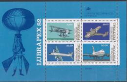Portugal 1982 MiNr. Block 37 ** - Flugzeuge - Postfrisch - Unused Stamps