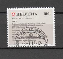 2012   N° 1422   OBLITERATION PREMIER JOUR   CATALOGUE ZUMSTEIN - Gebraucht