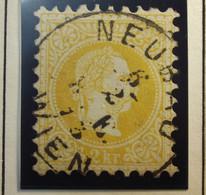 Österreich - Autriche - 1867 - 1880 Autriche - Hongrie  - Type A - Dent. 9 1/2 - N° 32 - 2K - Geel/jaune - Gestempeld - Used Stamps