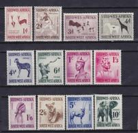 SOUTH WEST AFRICA 1954, Mi# 279-290, CV €85, Animals, Art, MH - Südwestafrika (1923-1990)