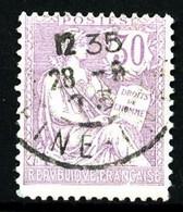 128 - 30c Violet Mouchon Retouché - Oblitéré - 1900-02 Mouchon