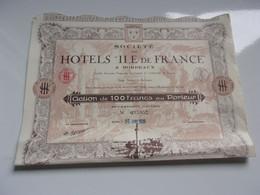 HOTELS ILE DE FRANCE (déco) Bordeaux GIRONDE - Non Classificati