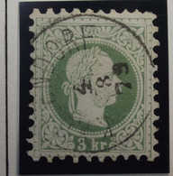 Österreich - Autriche - 1874 - 1880   - Type A - Dent. 9 1/2 - N° 33A - 3 K -  Groen/vert - Gestempeld - Used Stamps