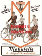 Reproduction D'unePhotographie D'une Publicité Ancienne Motobécane Mobylette La Bicyclette Motorisée - Reproductions