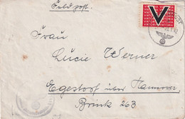 ALLEMAGNE 1941 OCC. LUXEMBURG LETTRE RECOMMANDEE AVEC CACHET ARRIVEE LEIPZIG - Besetzungen 1938-45