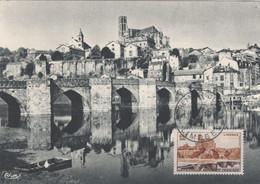 LIMOGES (Yvert N° 1018)  Carte Maximum 1er Jour / Limoges / 1955. - 1950-59