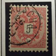 Österreich - Autriche - 1883 - Chiffre Noir / Zwart Cijfer - Dent. 9 1/2 à 10 -  N° 42 - 5 K -  Rose/Roos- Gestempeld - Used Stamps