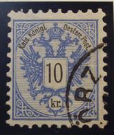 Österreich - Autriche - 1883 - Chiffre Noir / Zwart Cijfer - Dent. 9 1/2 à 10 -  N° 43 - 10 K -  Blauw/Blue - Gestempeld - Used Stamps
