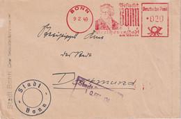 ALLEMAGNE 1949 ZONE ANGLO-AMERICAINE LETTRE EMA DE BONN - American/British Zone