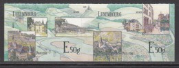2013 Luxembourg Moselle Valley Architecture Bridges Complete Pair  MNH  @ BELOW FACE VALUE - Nuovi