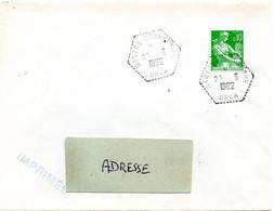 ALGERIE  1962 = GASTON DOUMERGUE = CACHET HEXAGONAL Pointillé F8 D'agence Postale Sur Timbre Français MOISONNEUSE - Brieven En Documenten