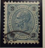 Österreich - Autriche - 1890/96  Kr & Gulden / Fils De Soie - Dent. 10.5 à 13.5 - N° 48 A -  3k - Blue/Grun - Gestempeld - Used Stamps