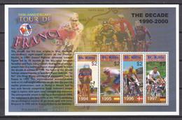 St Kitts 2003 Kleinbogen Mi 740-743 MNH - 100 YEARS TOUR DE FRANCE - Cycling