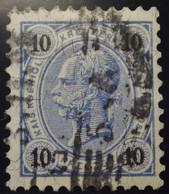 Österreich - Autriche - 1890/96  Kr & Gulden / Fils De Soie - Dent. 10.5 à 13.5 - N° 50A -  10k - Blauw - Foreign Cancel - Used Stamps