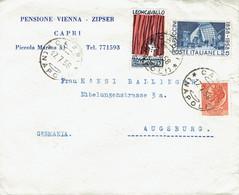 Italien / Italia - Umschlag Echt Gelaufen / Cover Used (c438*) - 1946-60: Marcophilie