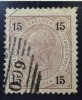 Österreich - Autriche - 1890/96  Kr & Gulden / Fils De Soie - Dent. 10.5 à 13.5 - N° 52A -  15 K - Lila - Foreign Cancel - Used Stamps
