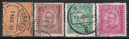 1892 PORTUGAL SET OF 4 USED STAMPS (Michel # 66yA,68xC,70yA,72yB) CV €23.10 - Gebraucht