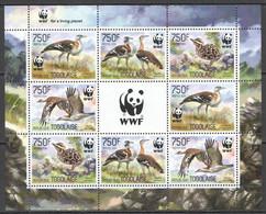 NW0561 2014 TOGO WWF BIRDS BUSTARDS OUTARDE DE DENHAM #5863-5866 KB(2SET) MNH - Unused Stamps