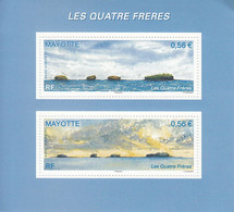 2009 Mayotte Les Quatres Freres  Souvenir Sheet MNH ** Top Right Corner Creased** - Nuovi