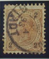 Österreich - Autriche - 1890/96  Kr & Gulden / Fils De Soie - Dent. 9 1/4 - N° 47B -  2 K  Brun/jaune - Gestempeld - Used Stamps