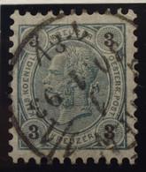 Österreich - Autriche - 1890/96  Kr & Gulden / Fils De Soie - Dent. 9 1/4 - N° 48B -  3 K  Groen/grijs - Gestempeld - Used Stamps
