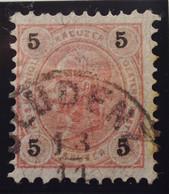 Österreich - Autriche - 1890/96  Kr & Gulden / Fils De Soie - Dent. 9 1/4 - N° 49B -  5 K  Rose-rood - Gestempeld - Used Stamps