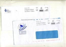 Lettre Affranchi Go Mulhouse Entete Mairie Bartenheim Wittelsheim - Manual Postmarks