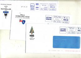 Lettre  Machine Mulhouse Colmar Entete Mairie Thann Horbourg  Wattwiller - Mechanical Postmarks (Other)