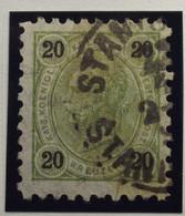 Österreich - Autriche - 1890/96  Kr & Gulden / Fils De Soie - Dent. 9 1/4 - N° 53 B -  20 K  Olive  - Gestempeld - Gebruikt