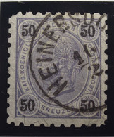 Österreich - Autriche - 1890/96  Kr & Gulden / Fils De Soie - Dent. 9 1/4 - N° 56 B - 50 K  Lila  - Gestempeld - Used Stamps