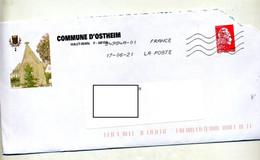 Lettre Flamme Chiffree Entete Mairie Ostheim - Mechanical Postmarks (Advertisement)