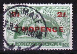 New Zealand 1922 King George V 2d Overprint On ½d Green Stamp. - Used Stamps