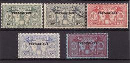 NOUVELLES HEBRIDES 1925 - Timbres Taxe (Postage Due) N° 6 à 10 - Neufs* (le N° 7 Oblitéré) TTB (scan Recto Et Verso) - Portomarken