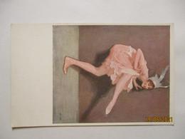Künstlerkarte Frau Tanz Harlekin, Signiert S.W. (17091) - 1900-1949