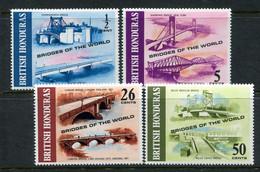 British Honduras 1971 Bridges Of The World Set MNH (SG 320-323) - Honduras Britannico (...-1970)